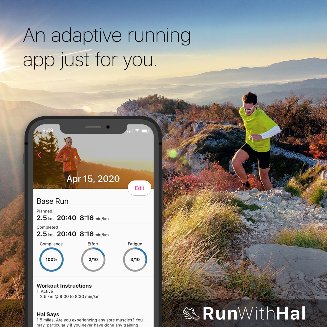 A training app that adapts to you.